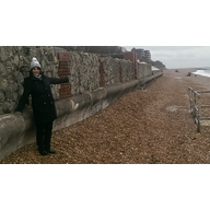 Shingle on Sandgate Sea Wall / Esplanade / walkway