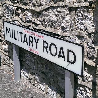 Military Road street sign