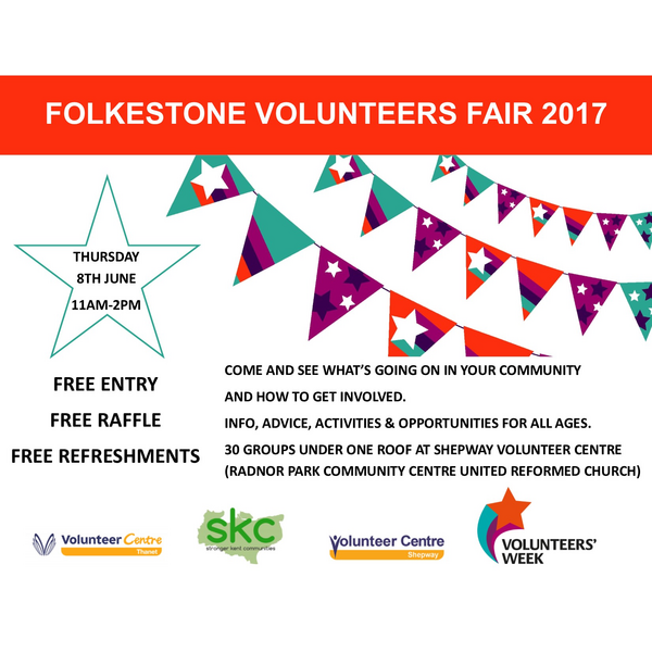 Folkestone Volunteers Fair 2017 flyer