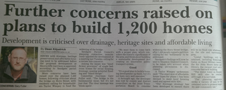 Article from Folkestone Herald 10 July 2014 on Sandgate Parish Council views on Shorncliffe Redevelopment