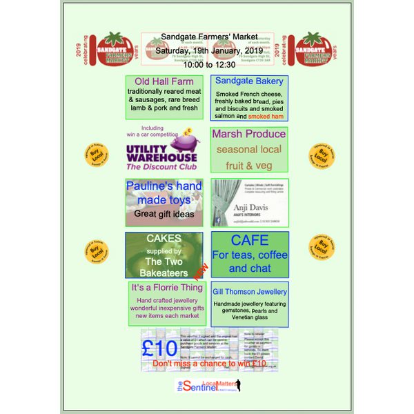 Sandgate Farmers Market advert