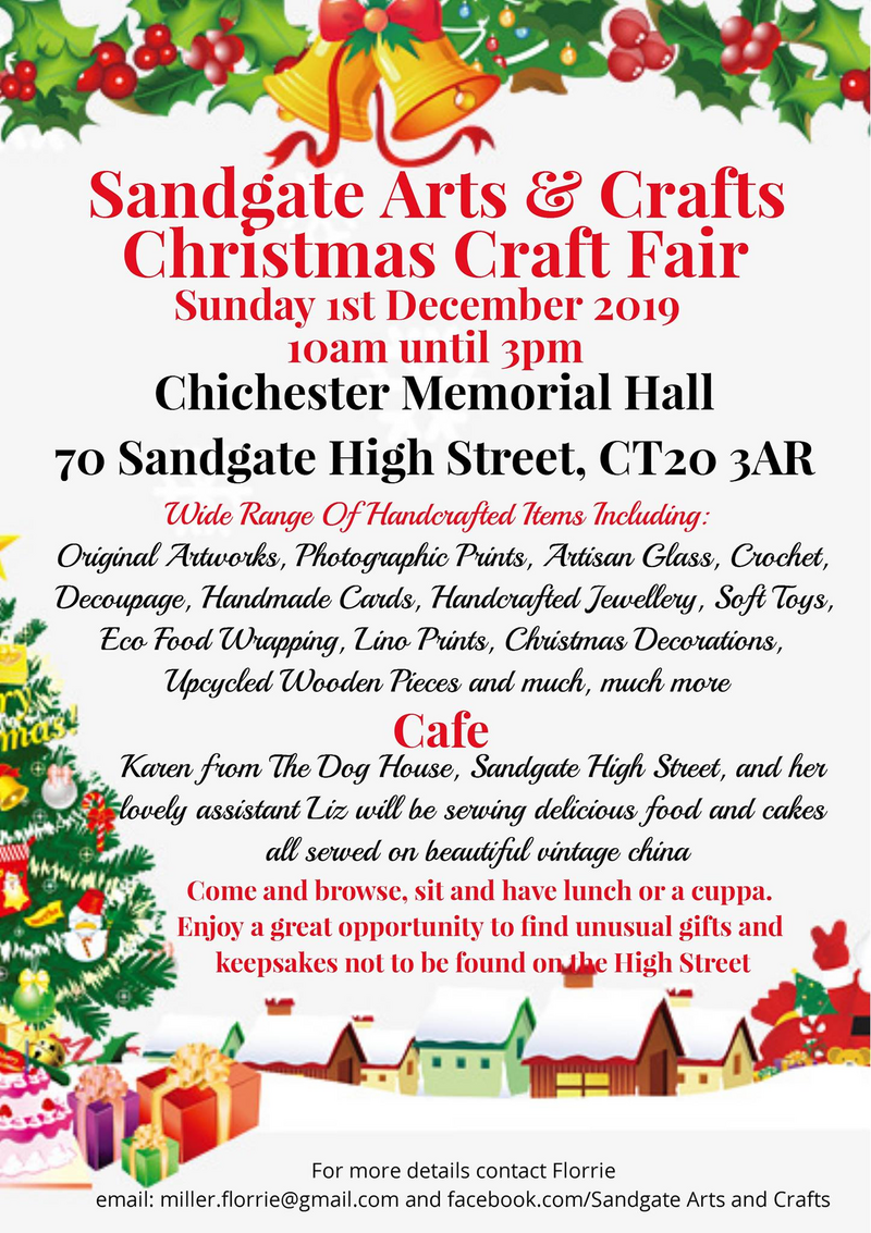Sandgate Farmers Market and Art & Craft Fair Poster - December 2019