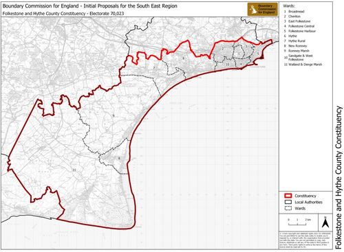 Proposed new Constituency Boundaries for Folkestone and Hythe