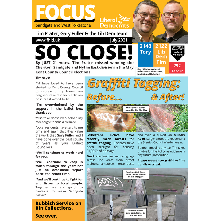 Sandgate and West Folkestone Focus July 2021 Page 1